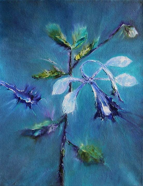 abstract flower paintings